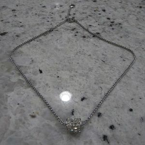 Diamond roll necklace